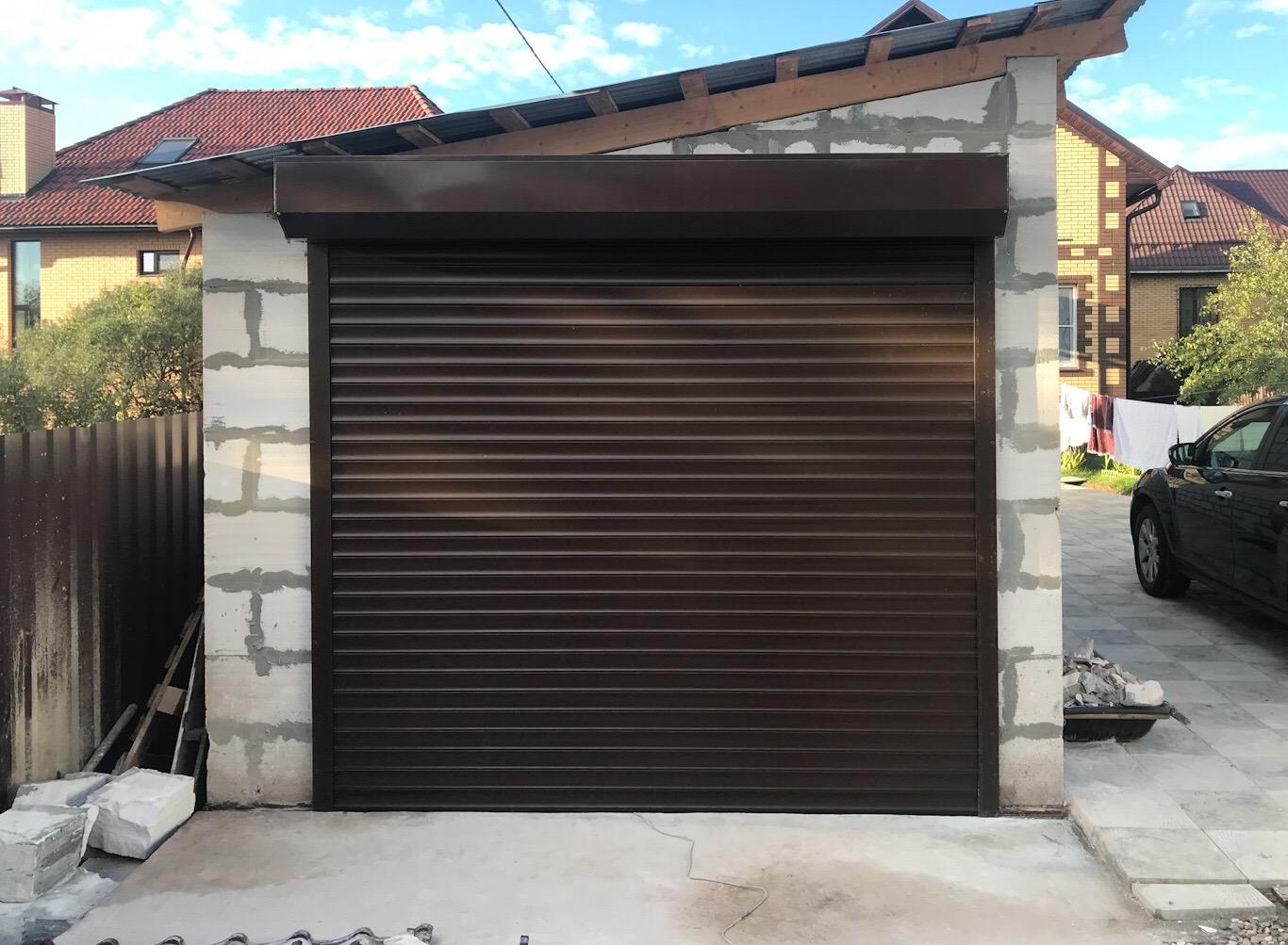 рольставни на гаражные ворота картинки дверь меруа, устанавливаемая